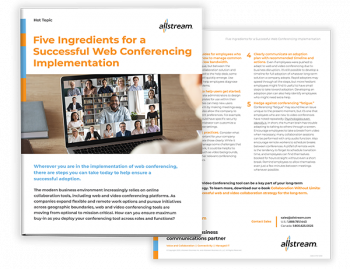 Five Ingredients for a Successful Web Conferencing Implementation - Cover image