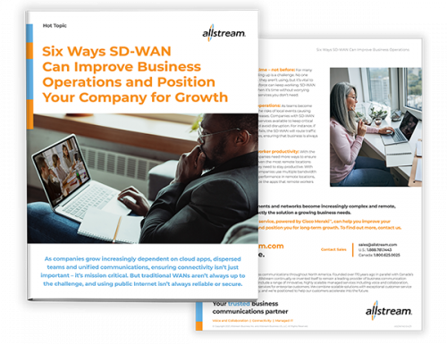 Six ways SD-WAN can improve business operations and position your company for growth - Cover Hot Topic Sheet